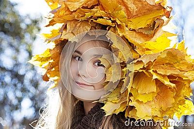 Portrait of smiling happy girl