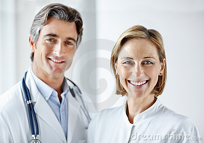 Portrait of a smiling and mature medical staff