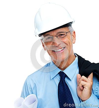 Portrait of smiling senior architect