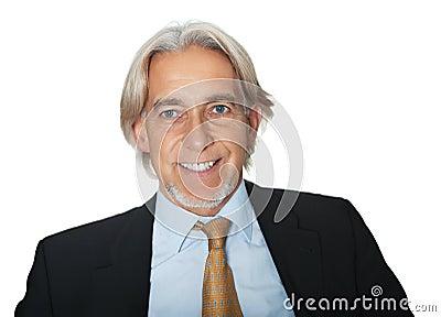 Portrait of smiling senior business executive