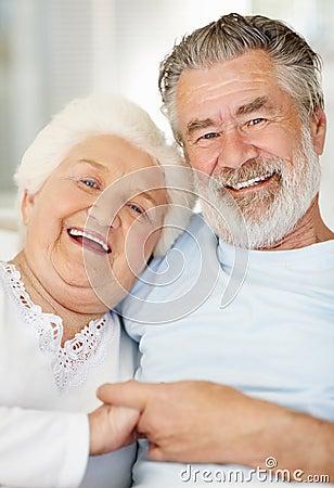 Portrait of a smiling senior female sitting