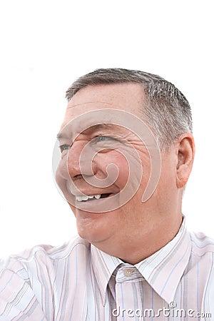 Portrait of smiling senior male