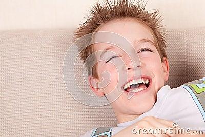 Portrait of smiling teen, indoor