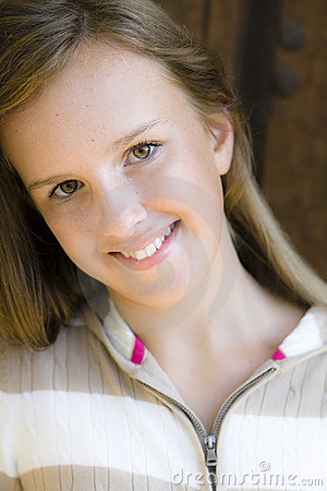 Portrait of Smiling Tween Girl