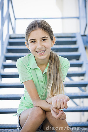 Portrait of Smiling Tween Girl