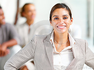 Portrait of a smiling young businesswoman