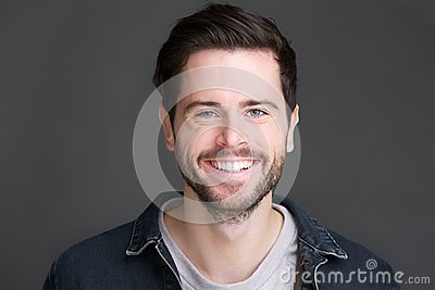 Portrait of a smiling young man looking at camera