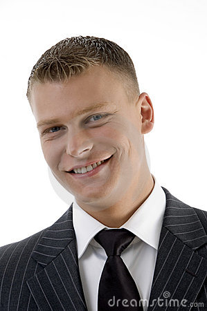 Portrait of smiling young manager