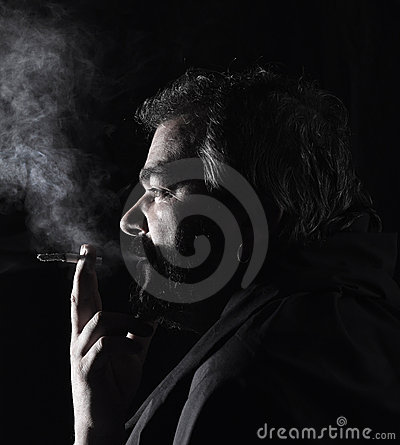 Portrait of a smoker