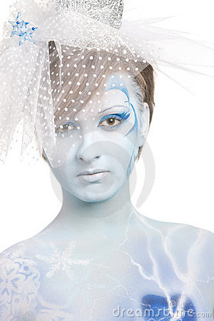 Portrait of snow queen