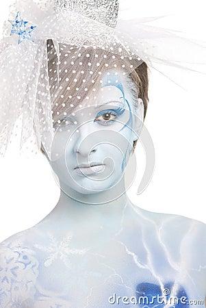 Portrait of snow queen