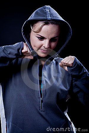 Portrait of a  sporting woman