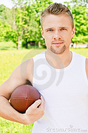 Portrait of sportsman of Rugby