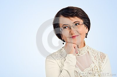 Portrait of success senior woman