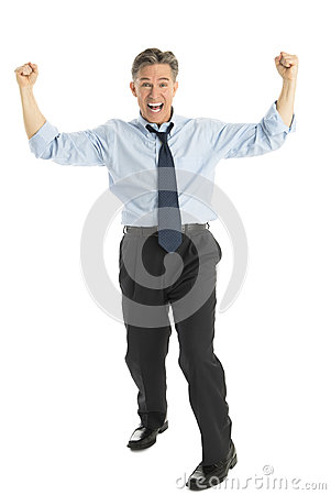 Portrait Of Successful Businessman Screaming