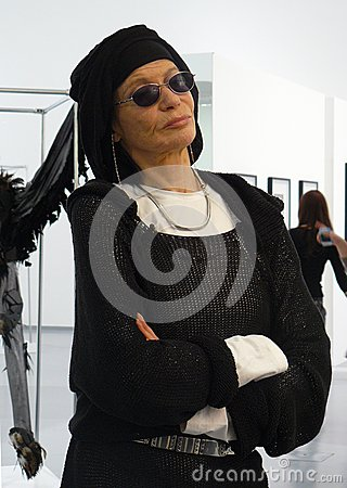 Portrait of supermodel Veruschka (Vera Lehndorff) Editorial Image