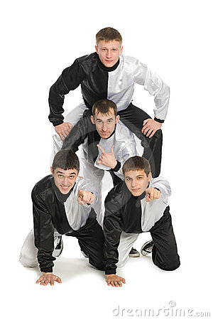 Portrait Of A Team Of Young Break Dancers Stock Images - Image: 17963484