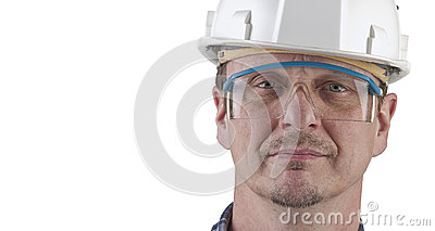 Portrait of a technician isolated