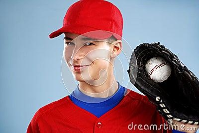 Portrait of a teen baseball player