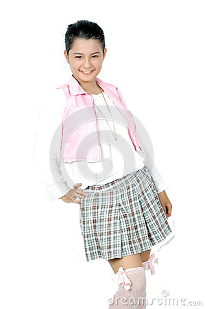 Portrait of teenager asian young girl