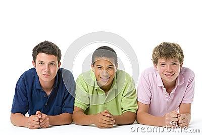 Portrait Of Three Teenage Boys