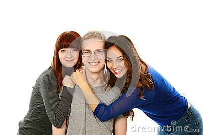 Portrait of three teens