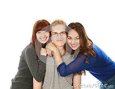 Portrait of three teens