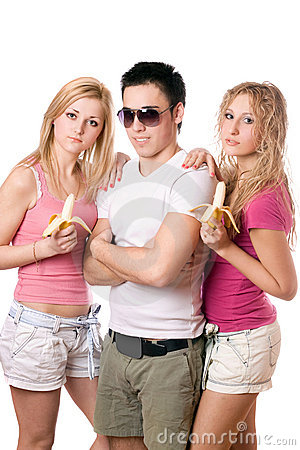 Portrait of three young people