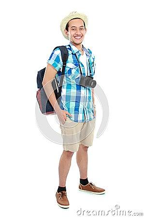 Portrait of a tourist