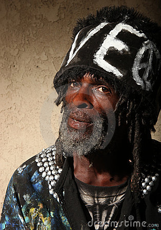 Portrait of a Transient  Homeless African American