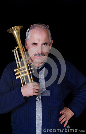 Portrait of trumpeter