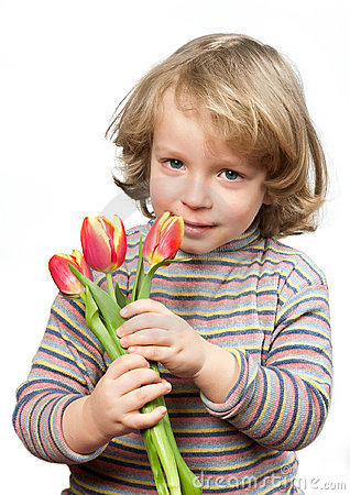 Portrait with the tulips.