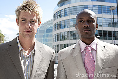Portrait of Two with Buildings
