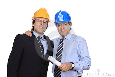 Portrait of two businessman on agreement