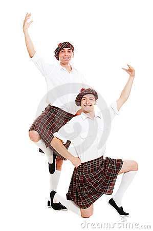 Portrait of two scotch dancers