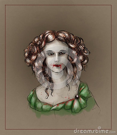 Portrait of a vampire girl