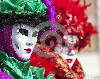 Portrait of a Venetian Mask Editorial Photography