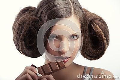 Portrait of vintage style girl