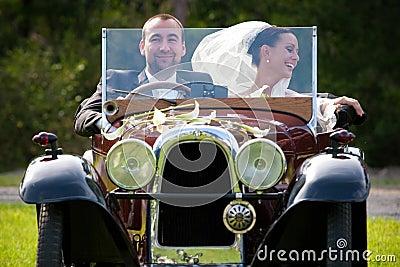 Portrait of wedding couple Stock Photo