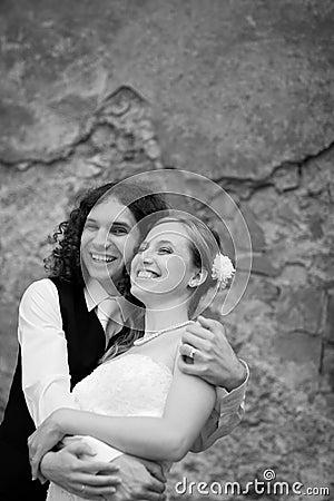 Portrait of a wedding couple