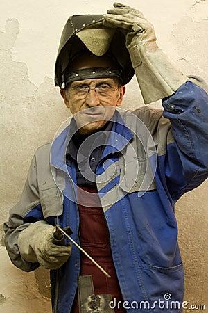 Portrait of welder