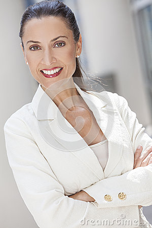 Portrait of Woman or Businesswoman Arms Folded