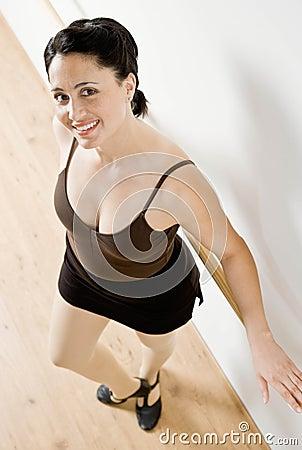 Portrait of woman in dance studio