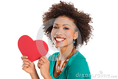 Woman Holding Heart Shape