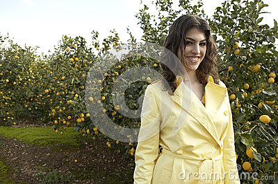 Portrait of Woman in Lemon Grove
