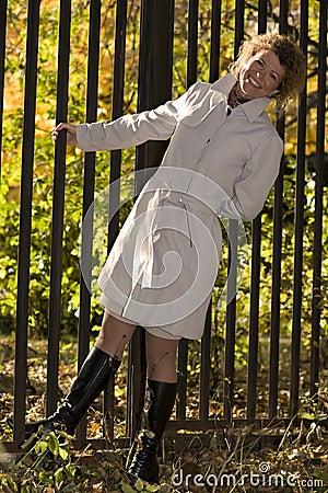 Portrait woman in park