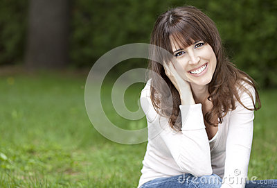 Portrait of a woman smiling at the camera