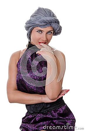 Portrait of woman in a turban