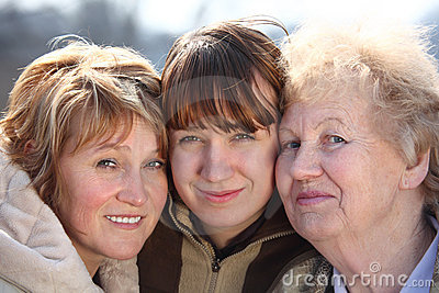 Portrait of women of three generations