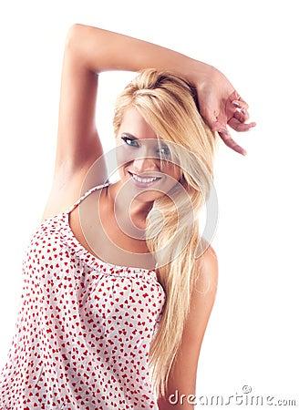 Portrait of wonderful blond women